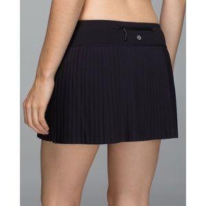 Lululemon Pleat To Street Skirt II Black
